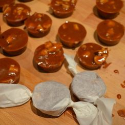 Lemon, Thyme and Macadamia Nut Caramels