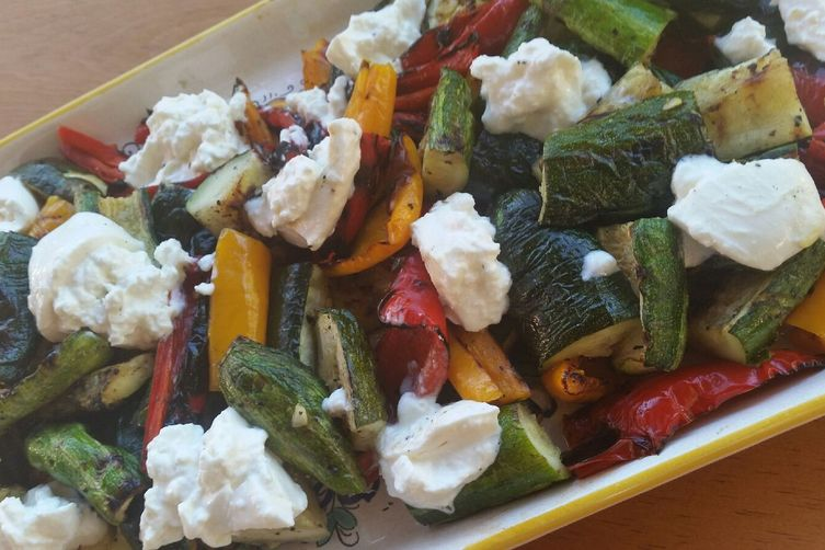 Grilled Harvest Vegetables with Burrata Cheese