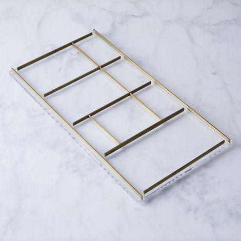Acrylic & Brass Desk Tray