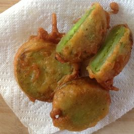 Green on green fritters