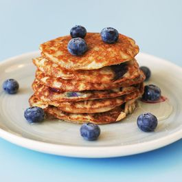 Almond Meal Pancakes with Blueberries