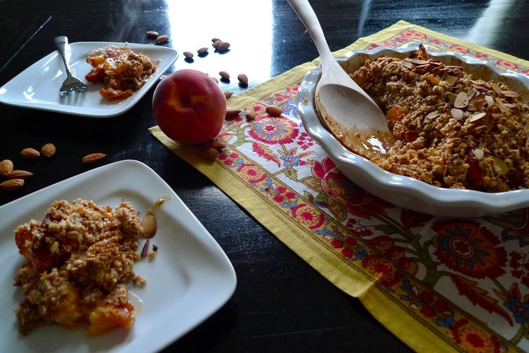 Amaretto Peach Crumble
