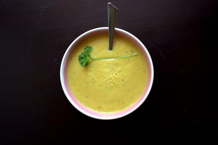 Roasted Cauliflower and Harissa Soup