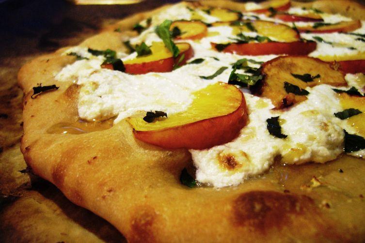 Peach Breakfast Pizza