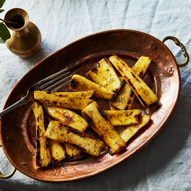 Seared and Glazed Parsnips with Rosemary
