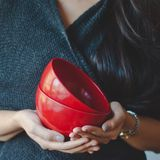 cynthia | two red bowls