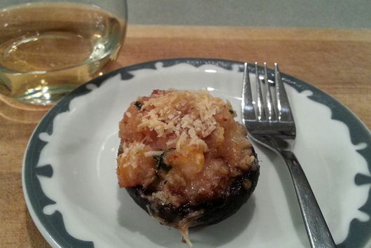 Sherried Shrimp Stuffed Mushrooms