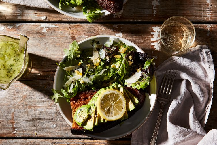 Small Oven's Green Salad with Preserved Lemon and Candied Ginger