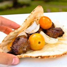 Balsamic Beef Kabob Flatbread Sandwiches