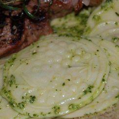 Fresh Pea Pesto for Corzetti
