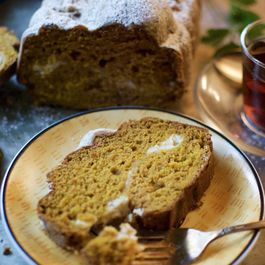Gluten-Free Pumpkin Bread with Cream Cheese Filling