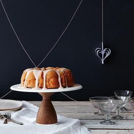 Walnut Cake Stand