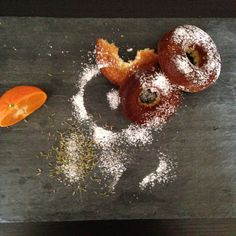Fennel orange doughnuts