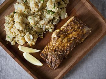 Halibut recipes and how tos from food52 dinner tonight vegetable couscous with halibut a tom collins forumfinder Image collections