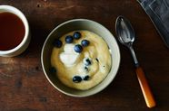 Blueberry Almond Breakfast Polenta