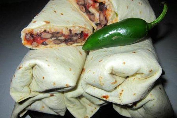 Black Bean Jalapeno Burritos