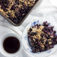 Blueberry Lemon Oatmeal Bake