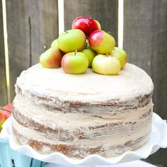 Apple Layer Cake With Bourbon Butterscotch Buttercream