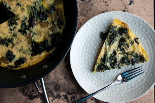 Frittata with Braised Mustard Greens