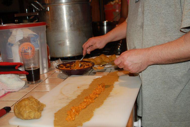 Shitake Pumpkin Ravioli with Sun-Dried Tomato Cream Sauce