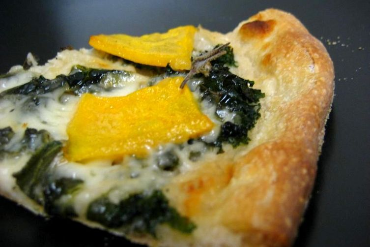 White Bean, Kale, and Butternut Squash Pizza