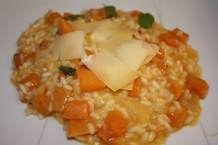 Pumpkin risotto with S. Jorge Island Cheese