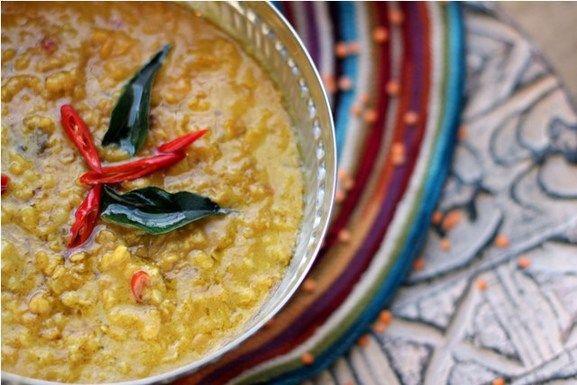 Sri Lankan Masur Dal with Tamarind, Curry Leaves & Coconut Milk