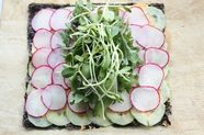 Nori Wraps with Hummus, Cucumbers, Radishes, and Sprouts
