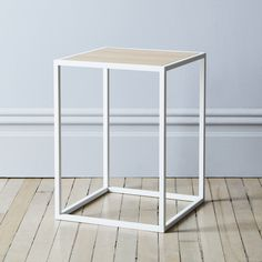 Wood-Top Square Coffee Table