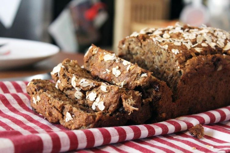 Whole Wheat Oatmeal Banana Bread