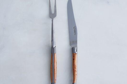 Laguiole en Aubrac Juniper Carving Set