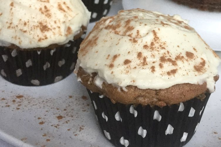 Apple Cider-Roasted Carrot Cupcakes