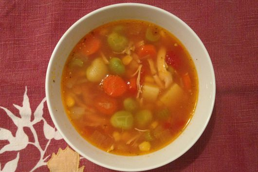Chicken and Vegetable Soup with Butter Beans
