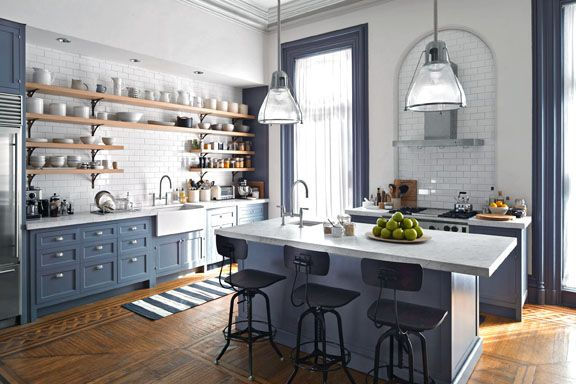 All the kitchen trends (including subway tile) on the set of The Intern.