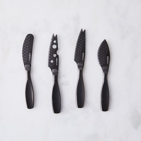 Matte Black Cheese Knife Set (4-Piece)