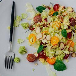 Romanesco, fennel and kumquat salad
