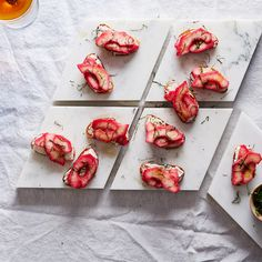 Hibiscus-Poached Quince Looks Like Nothing Else on Your Winter Table