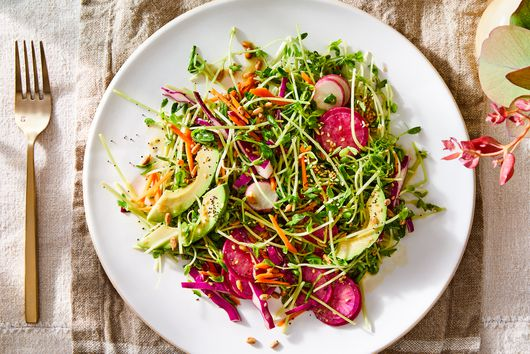 Simple Spring Salad With Crunchy Seeded Dressing