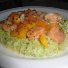 Cajun Shrimp  over Avocado Rice