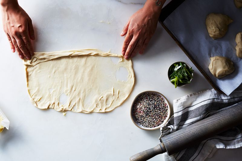 Fillings are optional, add them in before rolling up the dough