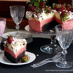 Neapolitan Brownie Cake