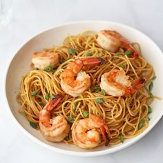 Garlic noodles with shrimp
