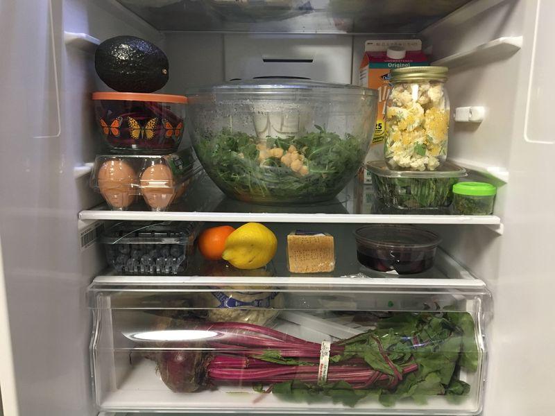 My salad's home.