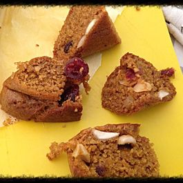 Carrot Cinnamon Brown rice Sugar-free Muffins with Almonds & Dried Cranberries
