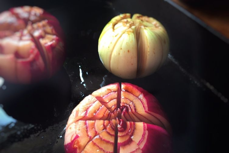 Roasted Lotus Flower Onions