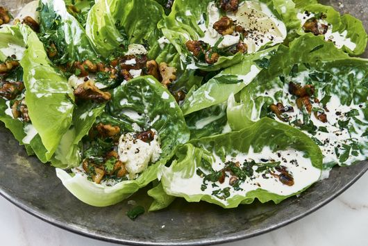 Carla Lalli Music's Spring Lettuces with Anchovy Cream