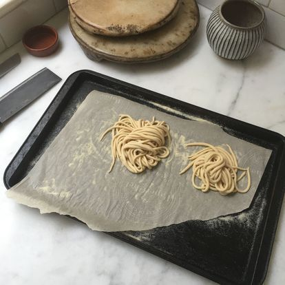 Tips for hand-rolling pici dough shared by Heidi Swanson