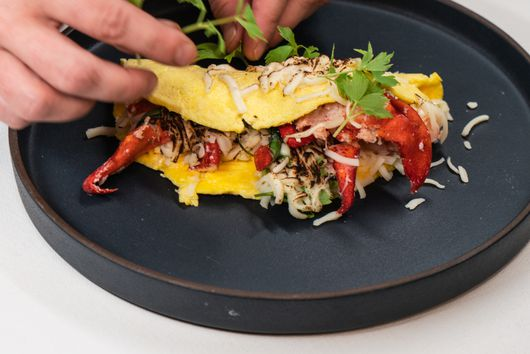 Lobster Omelette with Tarragon and Lovage