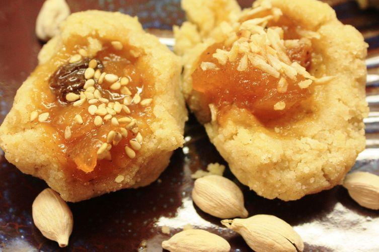 Mango Chutney Thumbprint Cookies