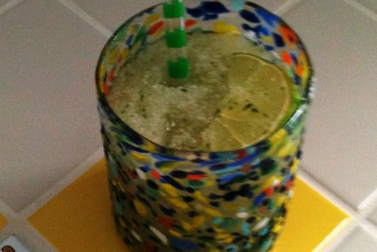Moroccan Mint Tea Slush with Lime and Ginger